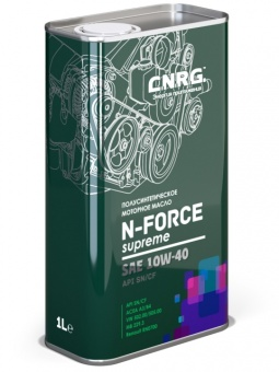 C.N.R.G. N-Force Supreme 10W-40 SN/CF канистра 1 литр